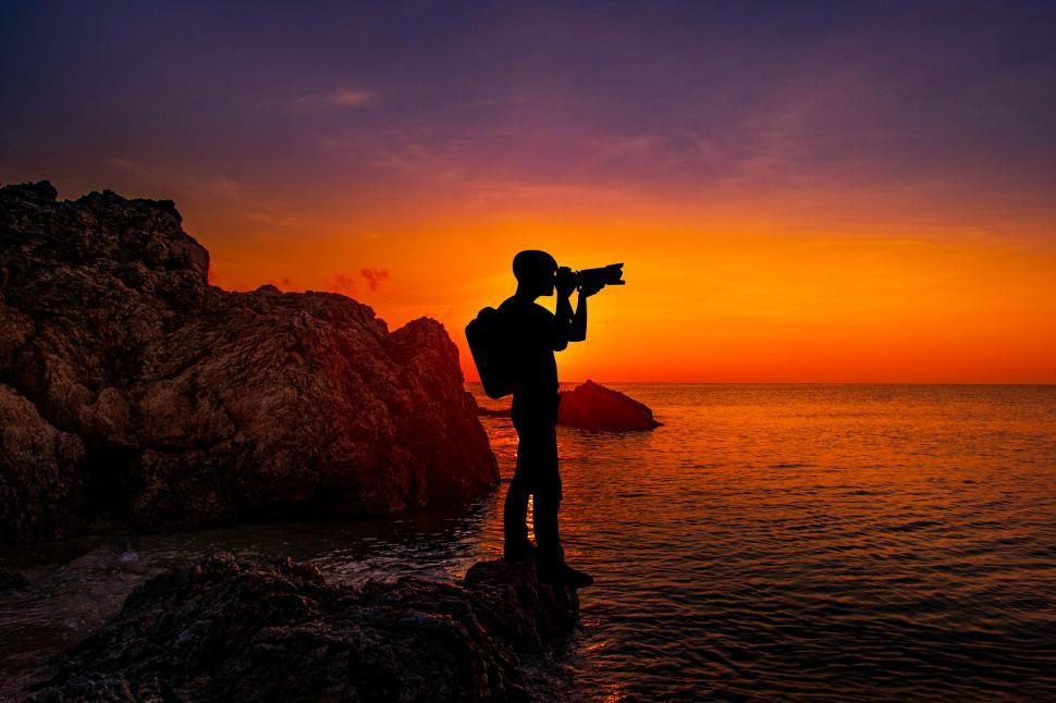 Download Free Stock HD Photo of  sunset photography - photographer  Online