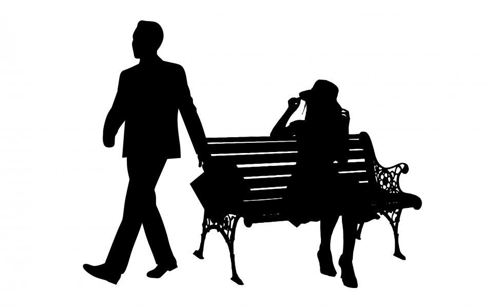 Download Free Stock HD Photo of breakup couple Silhouette  Online