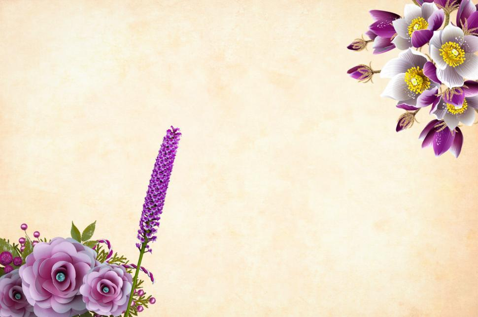 Download Free Stock Photo of Ornate Flower Background