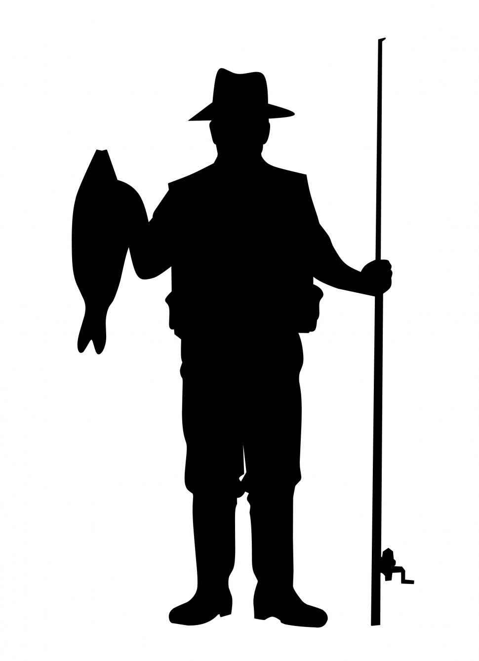 Download Free Stock Photo of fisherman Silhouette