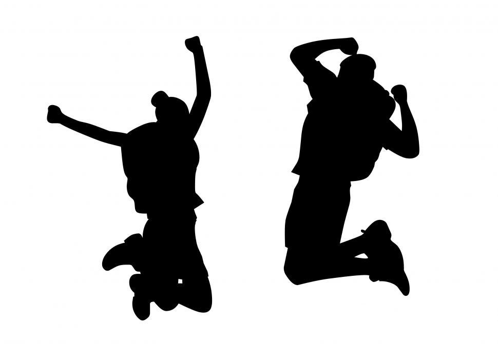 Download Free Stock HD Photo of Success freedom jump  Online