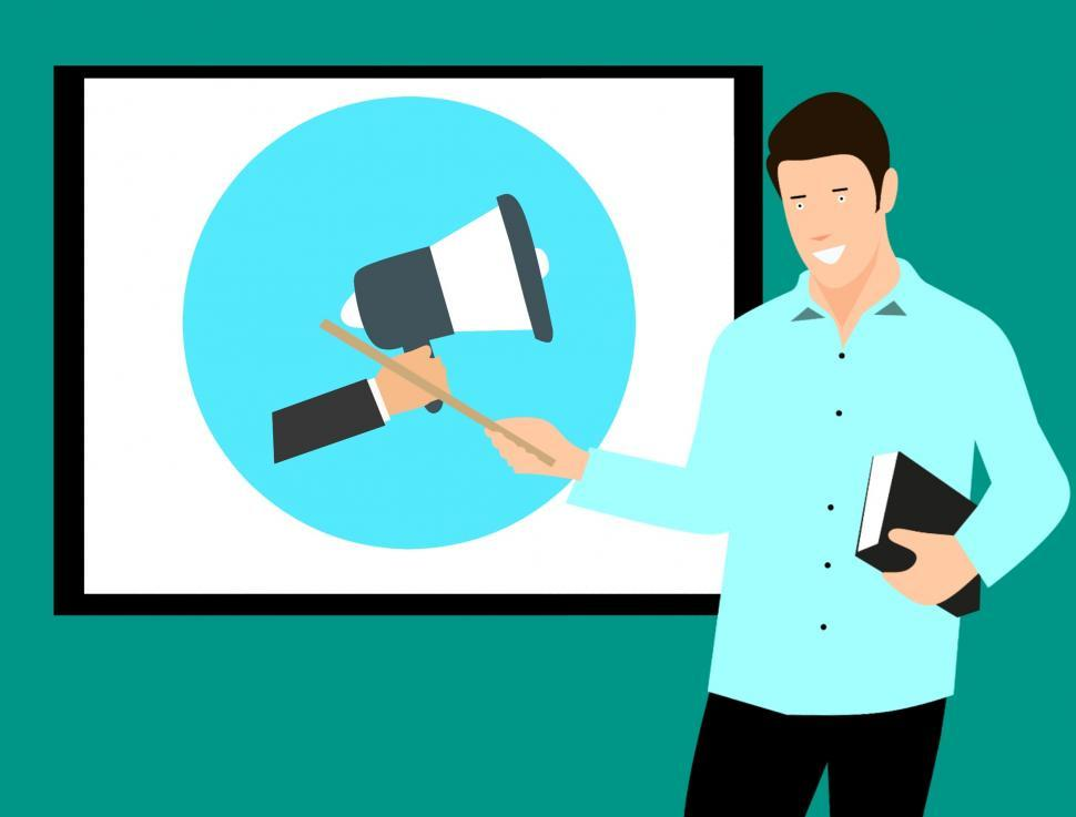 Download Free Stock HD Photo of Marketing Megaphone course  Online