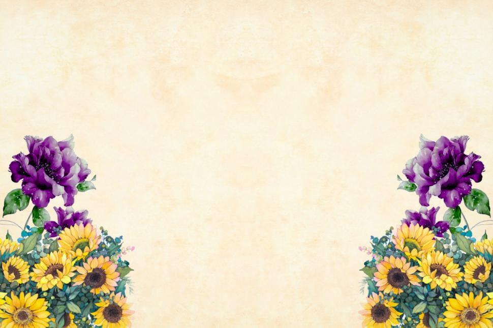 Download Free Stock Photo of Flower Background - Purple and Yellow