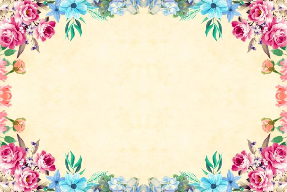 Download Free Stock HD Photo of flower frame in reds and blues Online