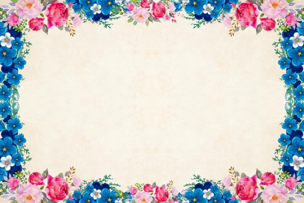 Download Free Stock Photo of Frame of flowers
