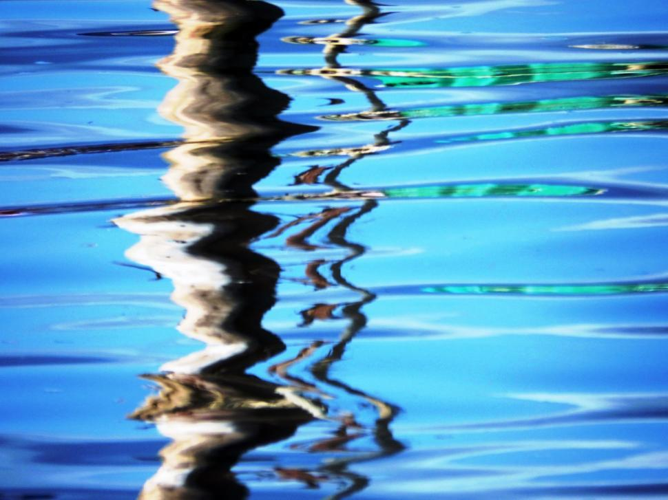 Download Free Stock Photo of Vivid blue abstract water reflection background