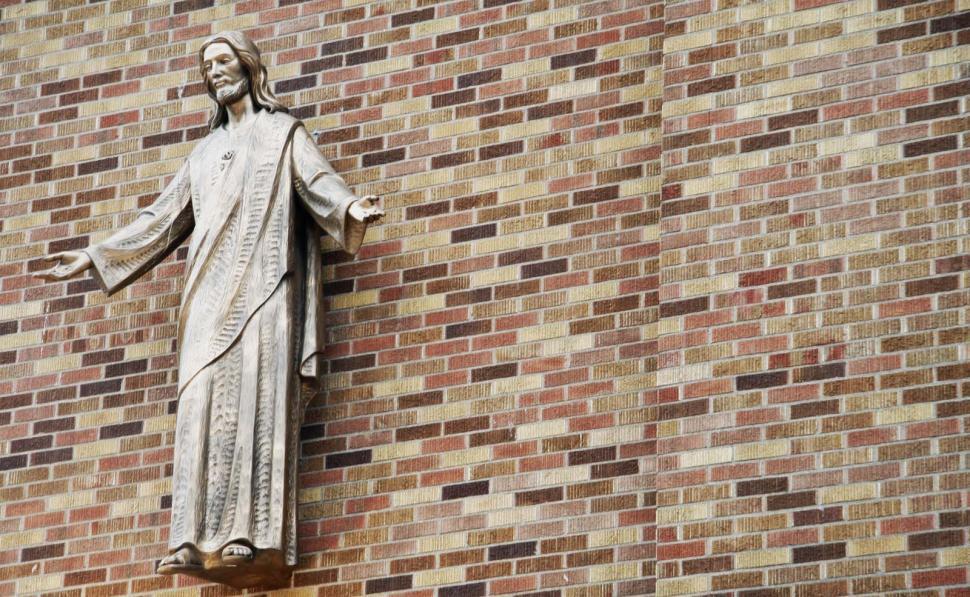 Download Free Stock Photo of Christ Welcoming Parishoners