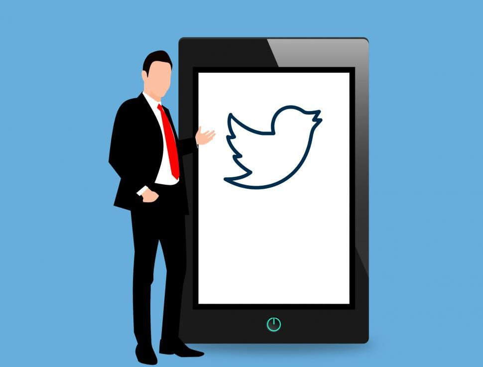 Download Free Stock Photo of Twitter app