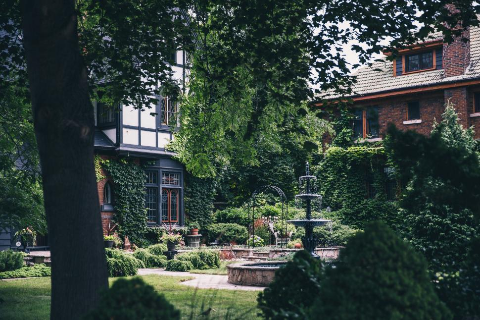 Download Free Stock HD Photo of A three-tier courtyard fountain Online
