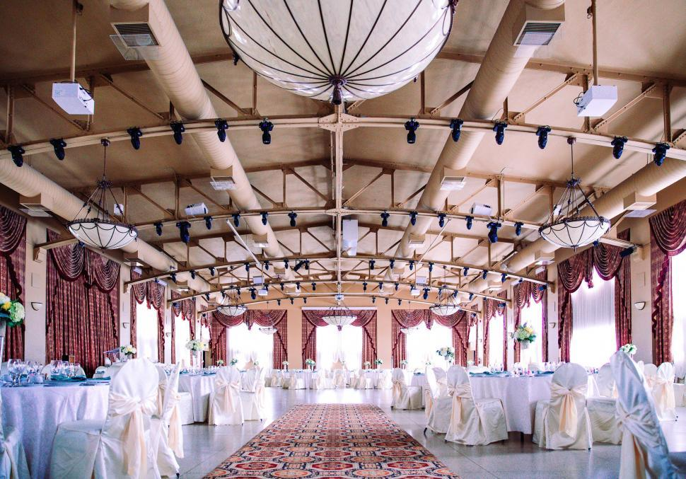 Download Free Stock HD Photo of An elegant wedding hall Online