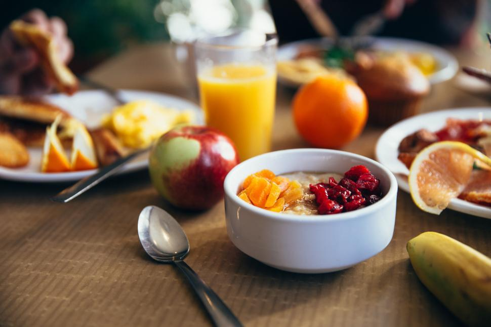 Download Free Stock HD Photo of Healthy breakfast on the table Online