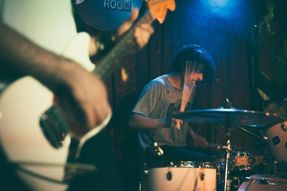 Download Free Stock Photo of indie music band on stage
