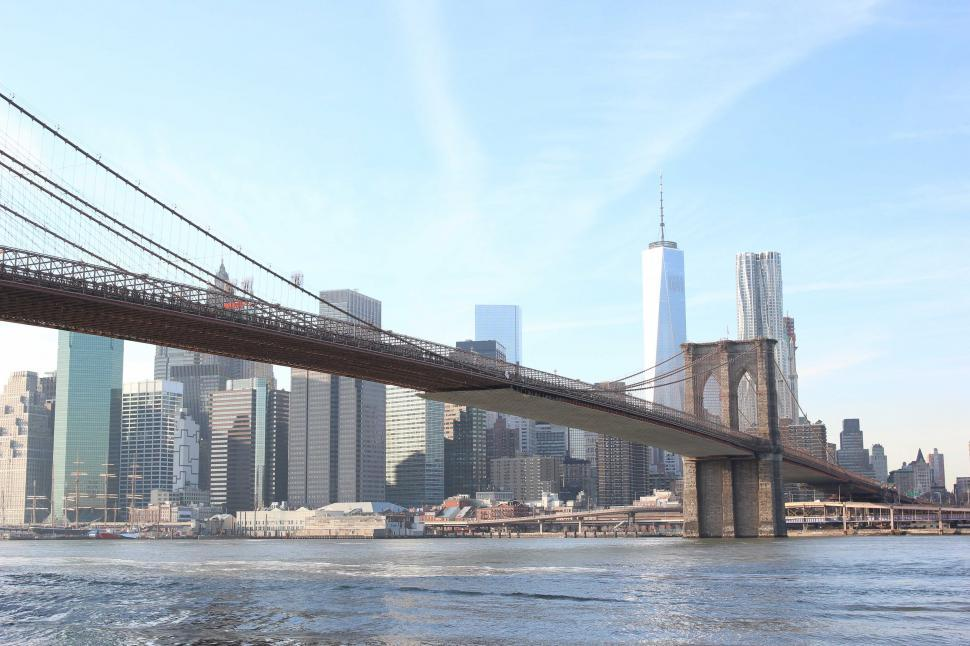 Download Free Stock HD Photo of The Brooklyn Bridge in New York City Online