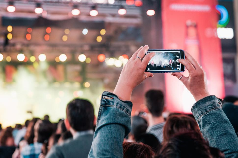 Download Free Stock HD Photo of A view of concert audience from crowd Online