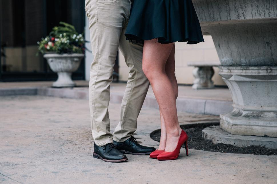 Download Free Stock HD Photo of A romantic couple s feet Online
