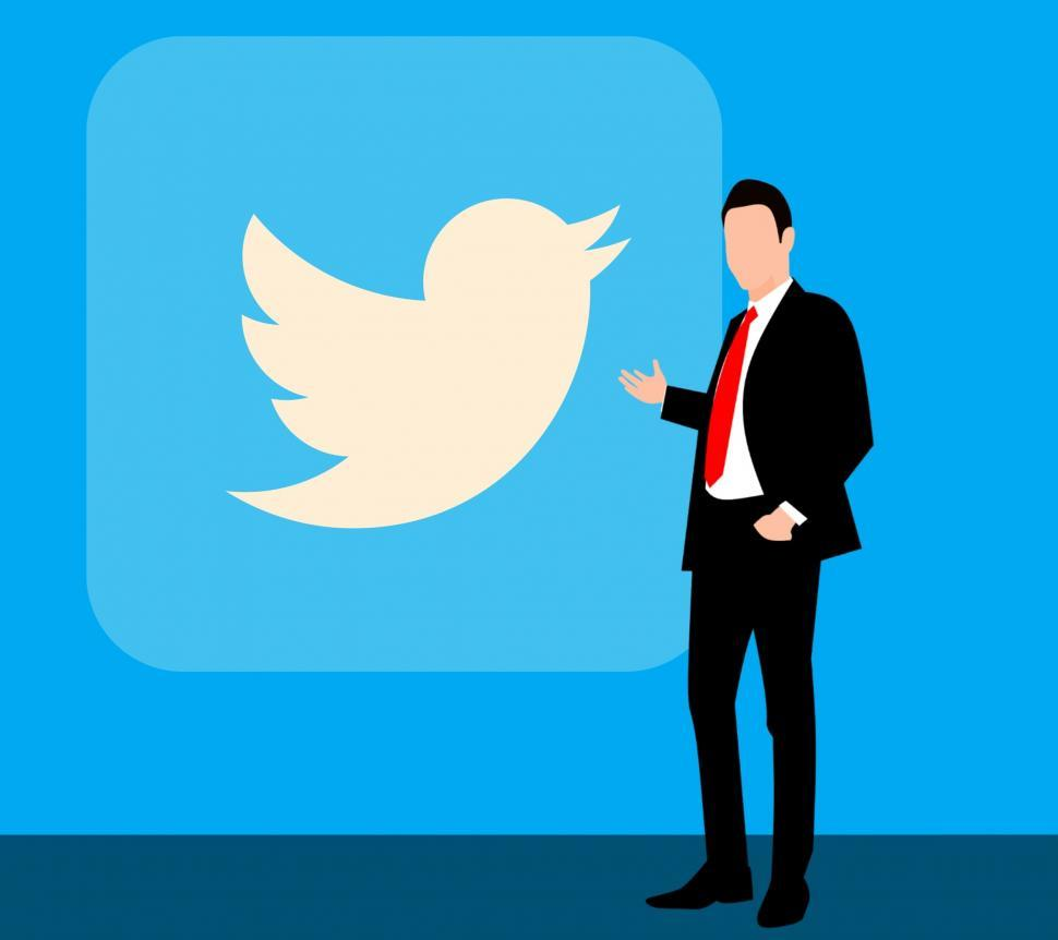 Download Free Stock HD Photo of  Twitter, social media, twitter logo, twitter birds, twitter icon, social media icons, linkedin, business, suit, full, background, presentation, hand, professional, handsome, executive, people, showin Online