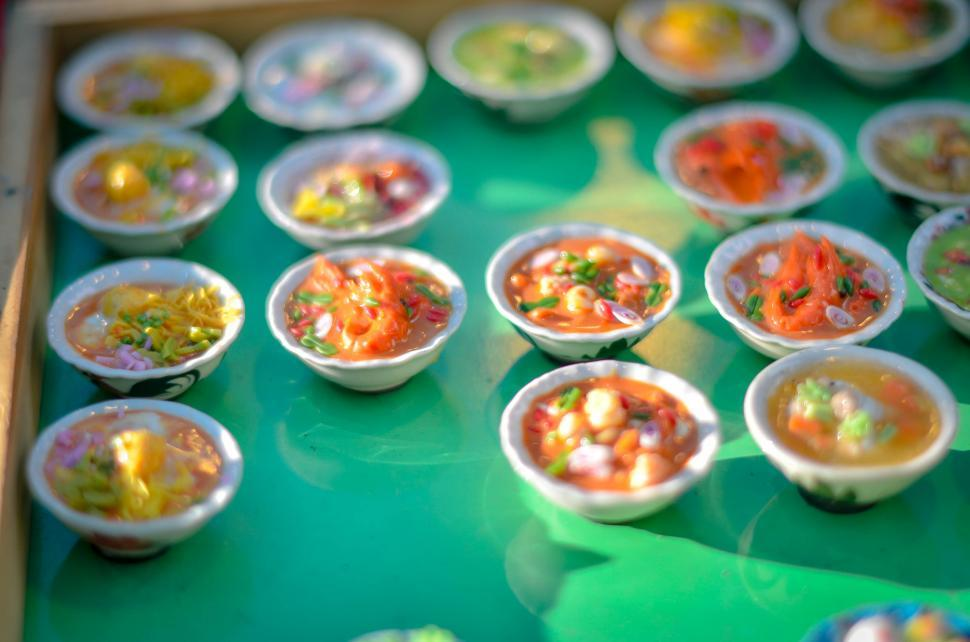 Download Free Stock HD Photo of Gifts of miniature soup bowls Online