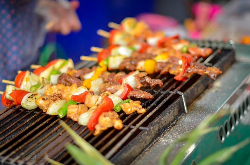 Download Free Stock HD Photo of Kababs on the Grill Online