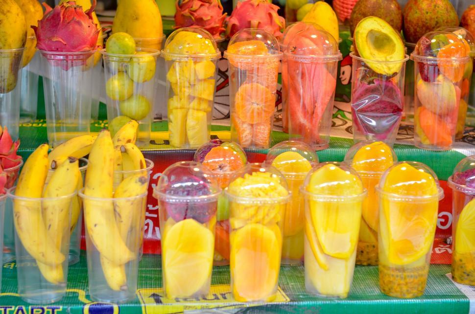 Download Free Stock Photo of Fruit in Cups