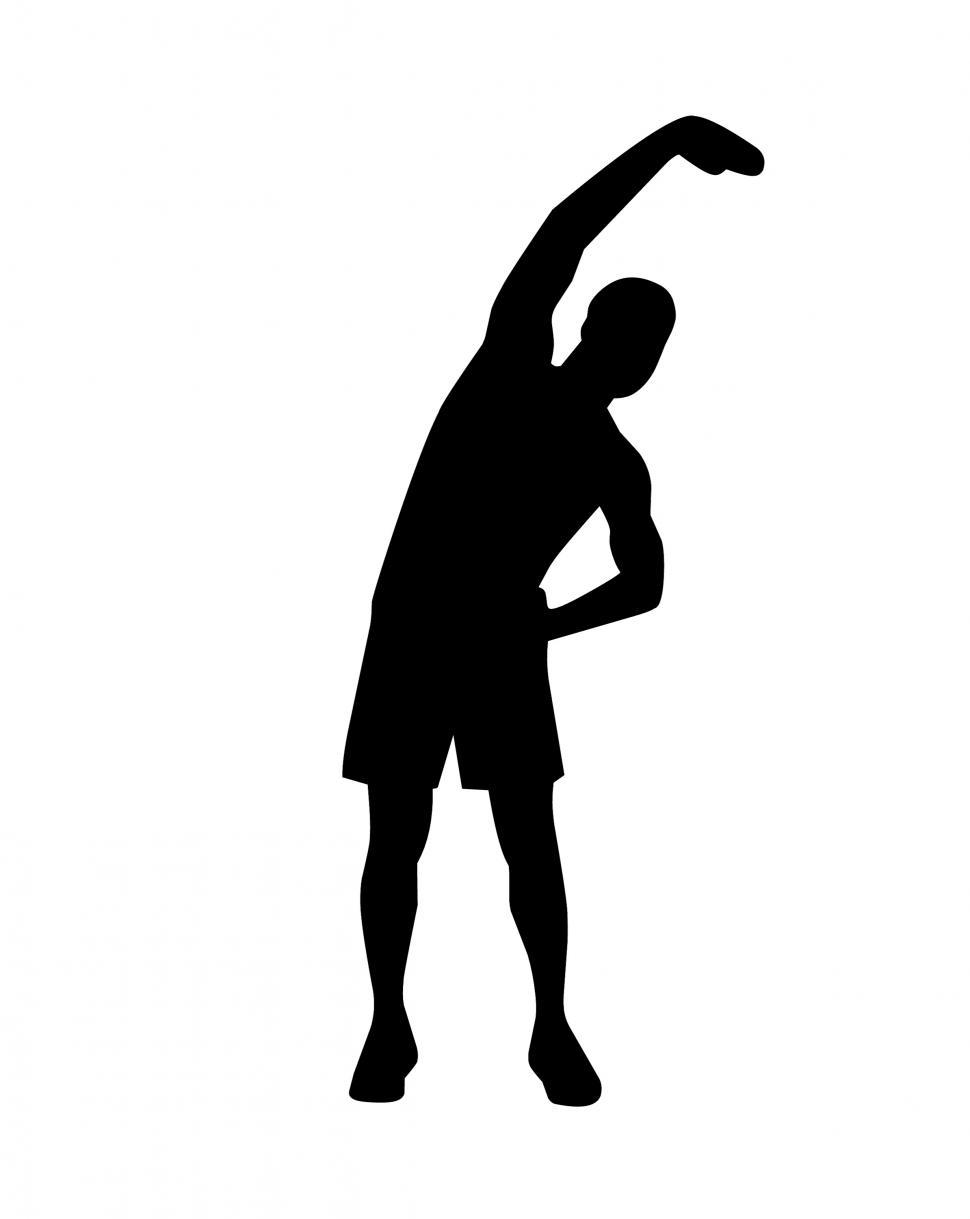 Download Free Stock Photo of stretching man Silhouette