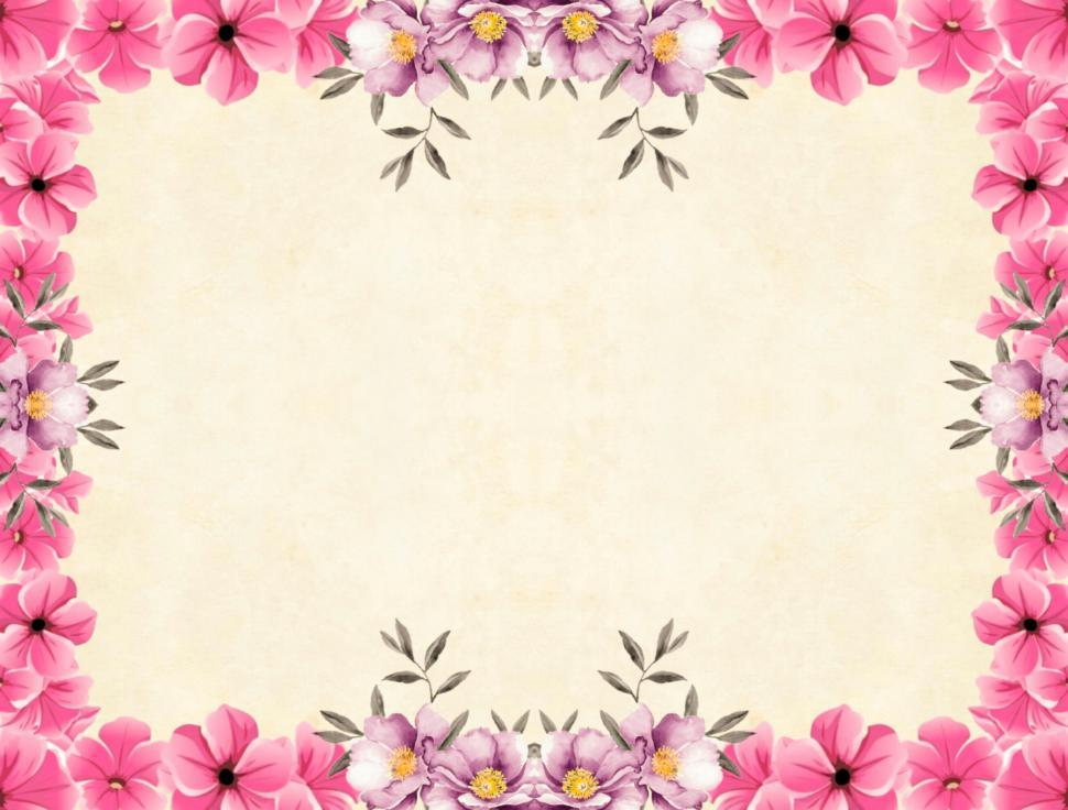 Download Free Stock Photo of Flower Background - Pink Frame
