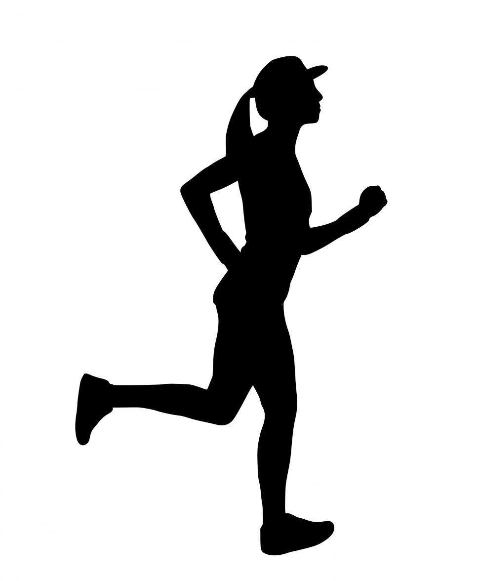 Download Free Stock Photo of runner Silhouette