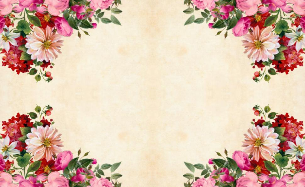Download Free Stock HD Photo of Quadrant Flower Background  Online