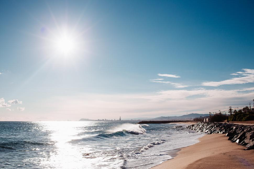 Download Free Stock Photo of Sunshine on the beach