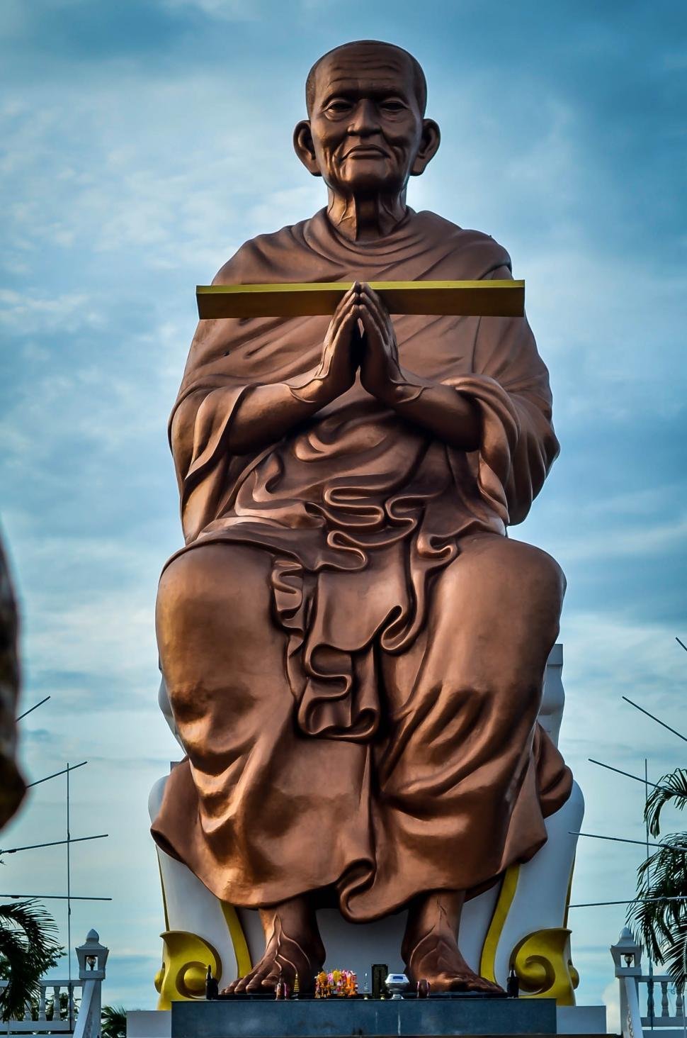 Download Free Stock Photo of Sculpture of Monk in Thailand