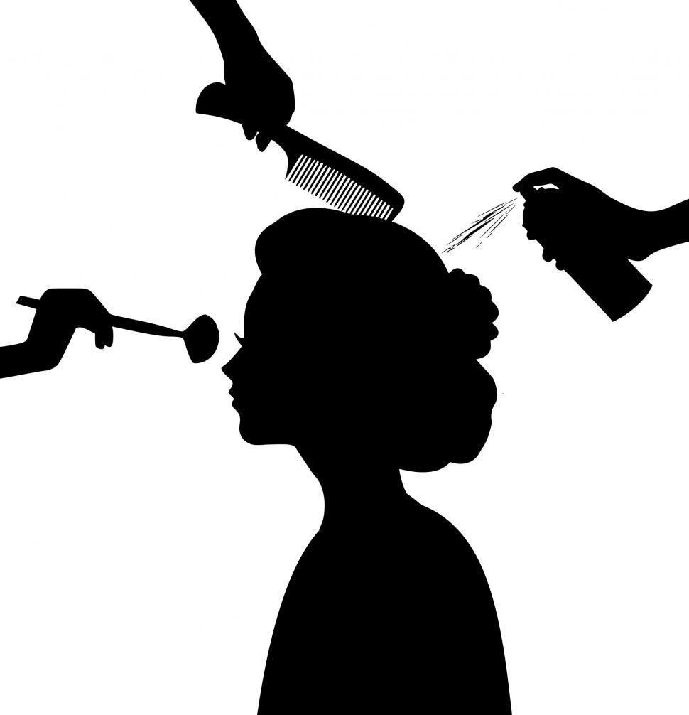 Download Free Stock Photo of beauty salon Silhouette