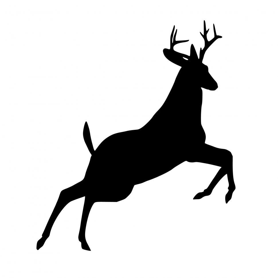 Download Free Stock Photo of deer Silhouette jumping