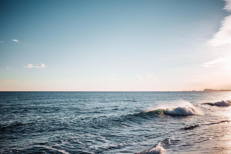 Download Free Stock Photo of Ocean waves crashing on the beach