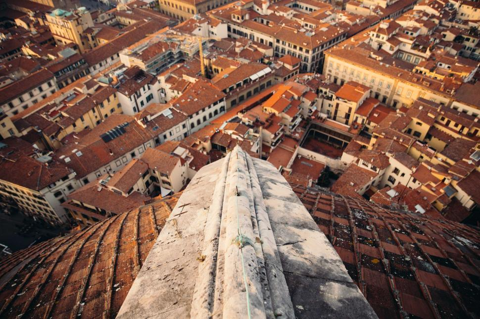 Download Free Stock HD Photo of Basilica rooftop of Florence Cathedral Online