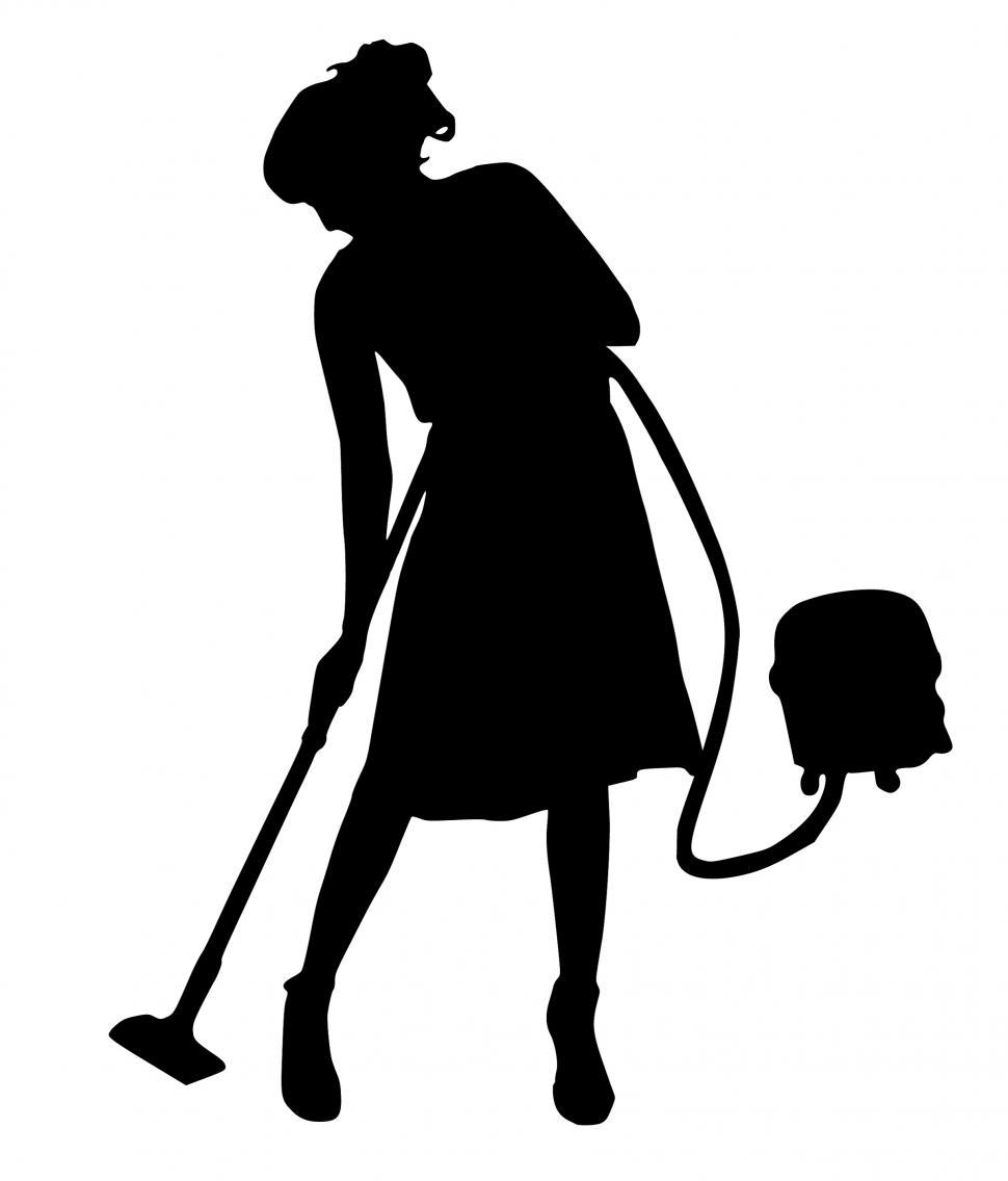 Download Free Stock Photo of cleaning Silhouette