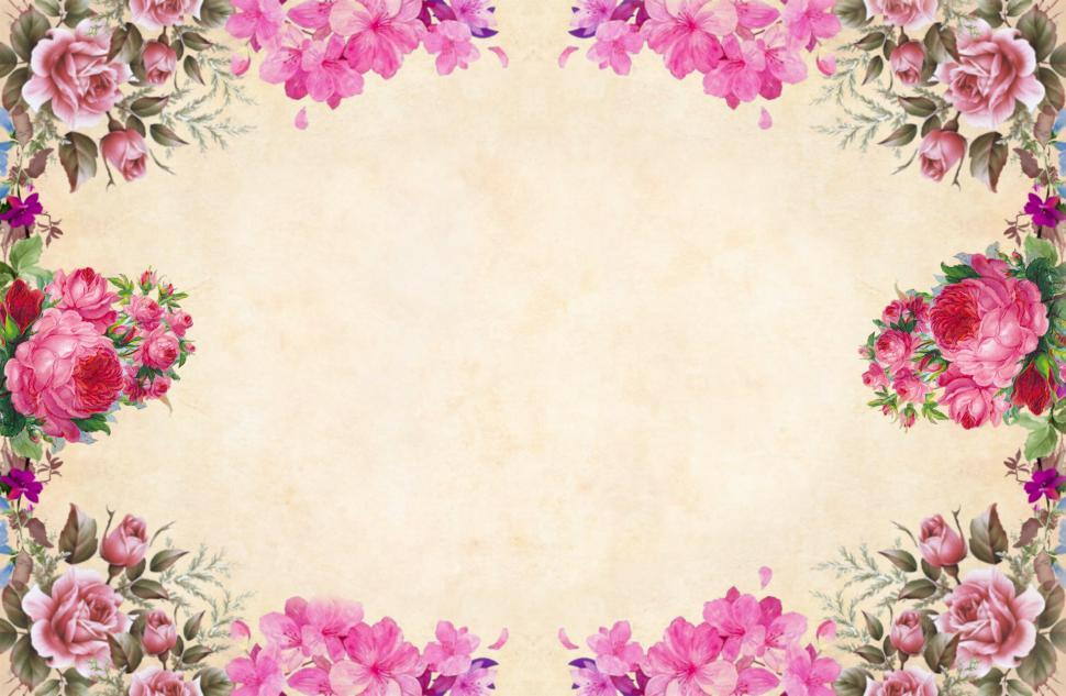 Download Free Stock HD Photo of Flower Background - Frame of flower Online