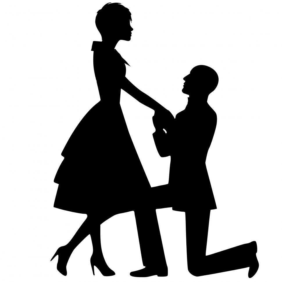 Download Free Stock HD Photo of lovers Silhouette  Online
