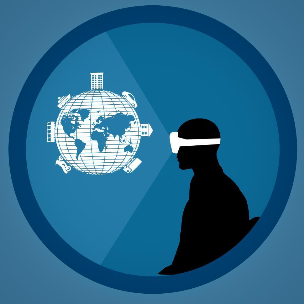 Download Free Stock Photo of virtual reality Illustration