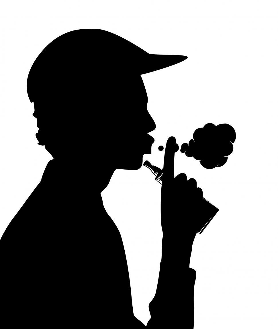 Download Free Stock HD Photo of vaping Silhouette  Online