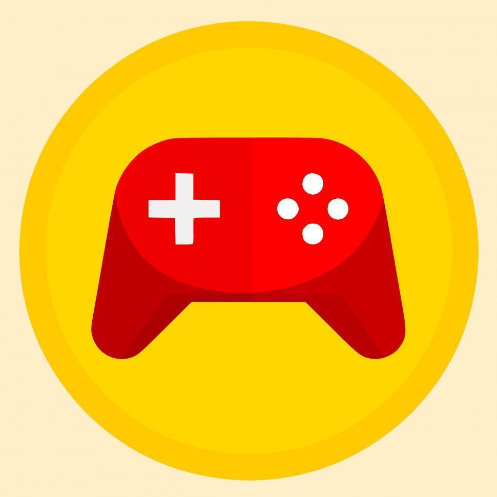 Download Free Stock Photo of gamepad Illustration