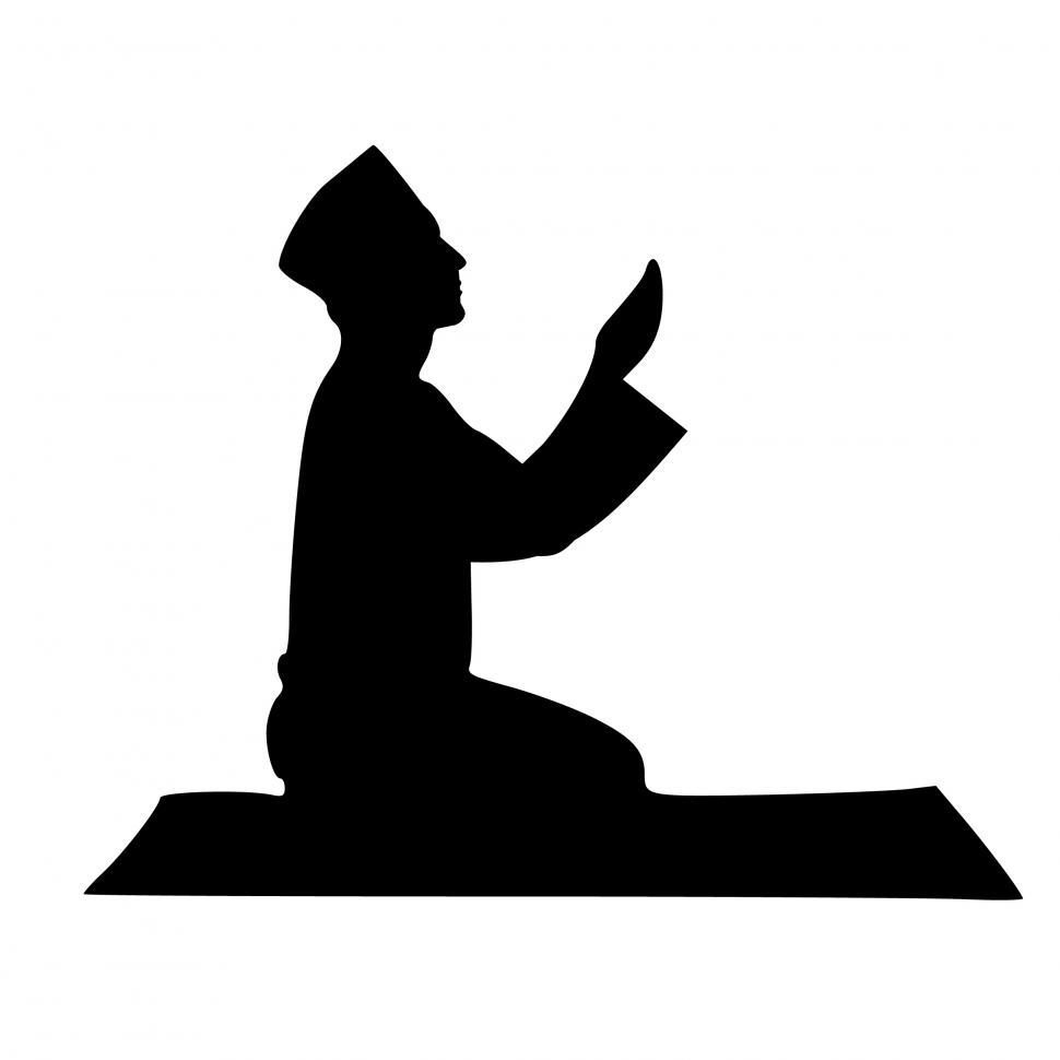 Download Free Stock HD Photo of Islamic pray Silhouette  Online