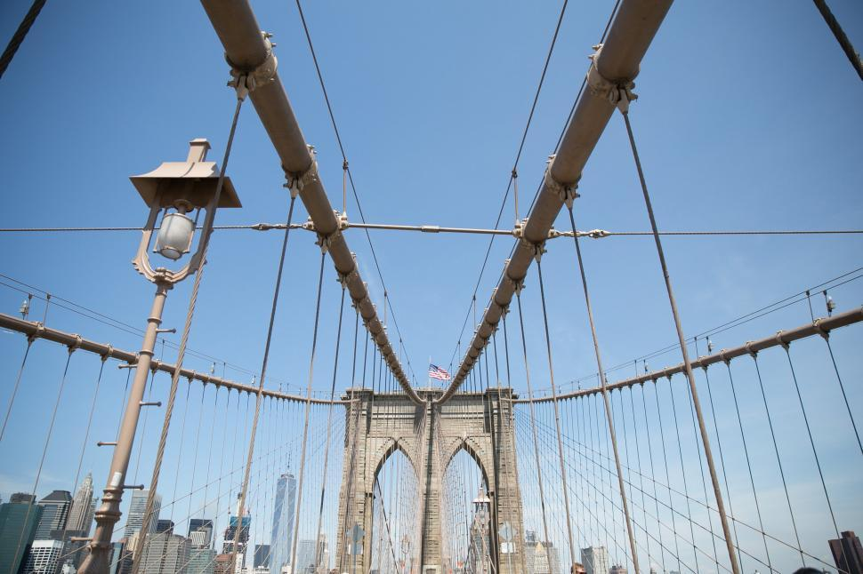 Download Free Stock HD Photo of Suspension cables on Brooklyn bridge Online