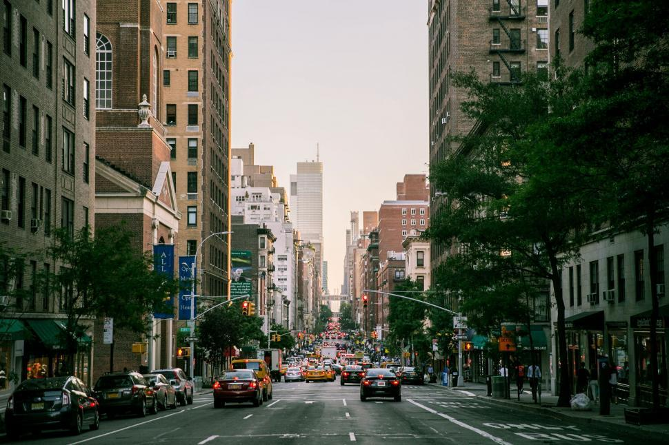 Download Free Stock Photo of A busy street in New York