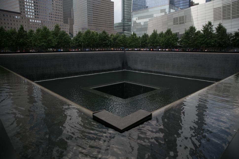 Download Free Stock HD Photo of Corner view of September 11 Memorial & Museum Online
