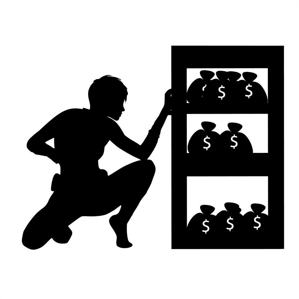 Download Free Stock HD Photo of thief Silhouette  Online