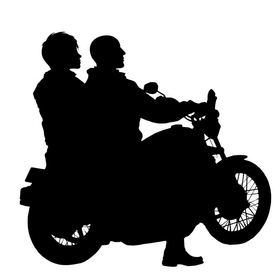 Download Free Stock Photo of couple riding motorcycle