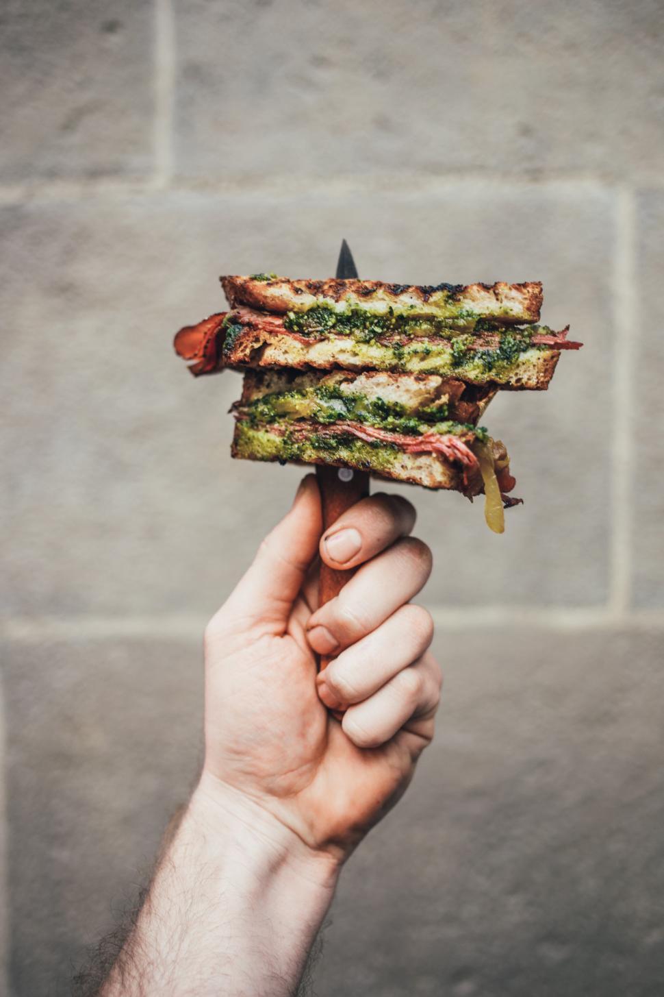 Download Free Stock HD Photo of Gourmet pesto sandwich Online
