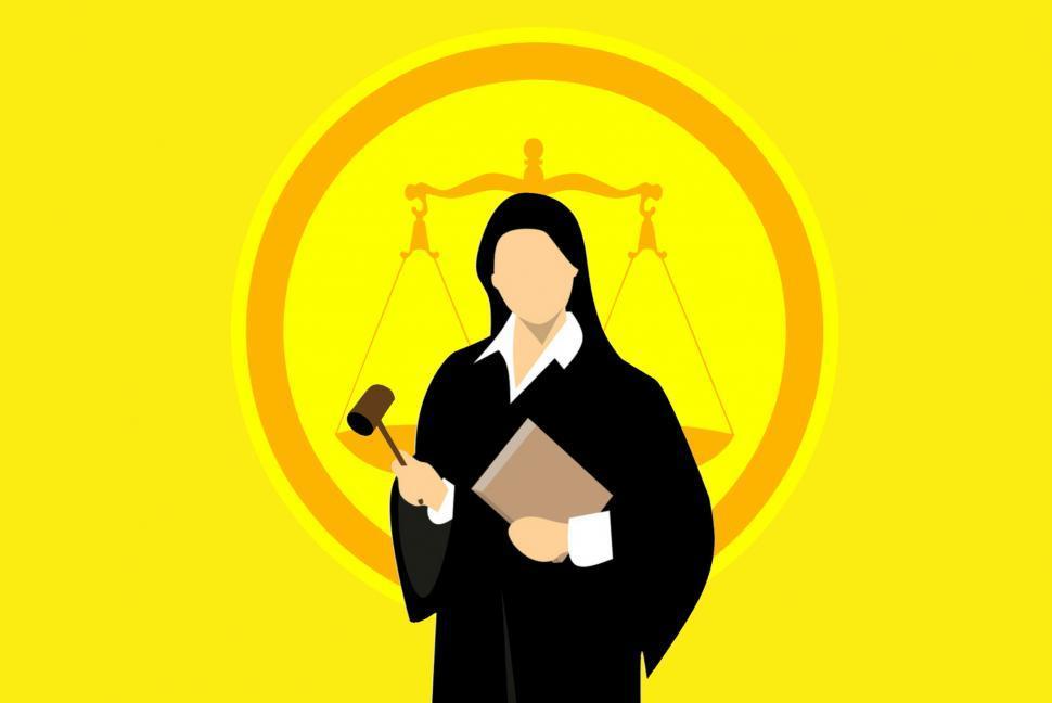 Download Free Stock Photo of judge Illustration