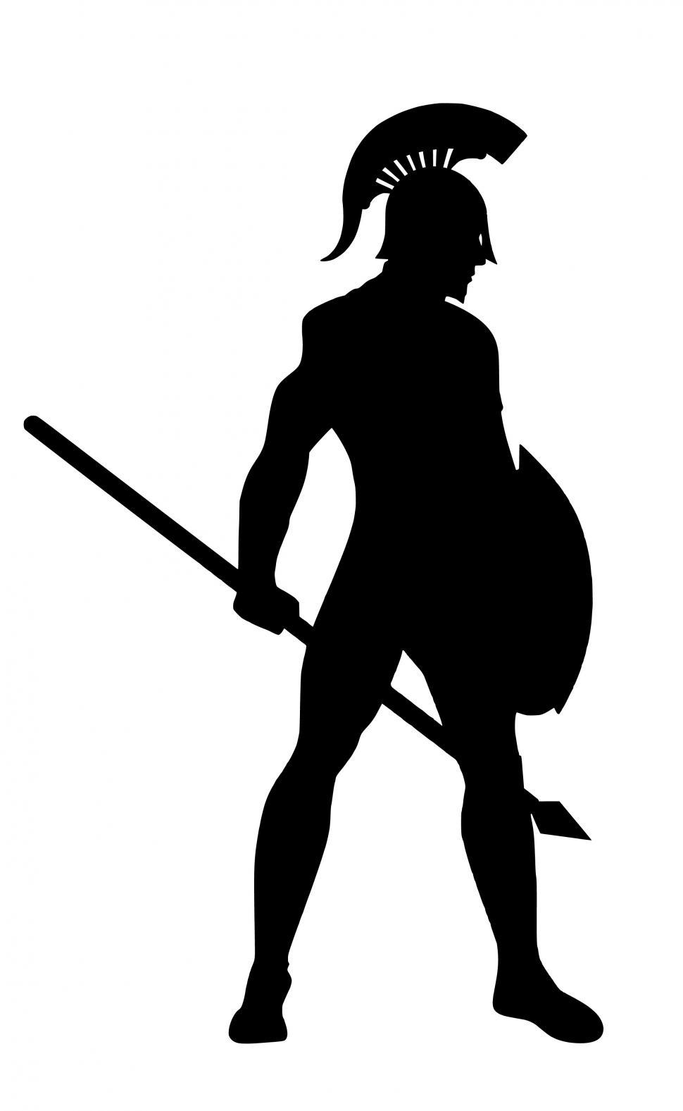 Download Free Stock Photo of Spartan warrior Silhouette