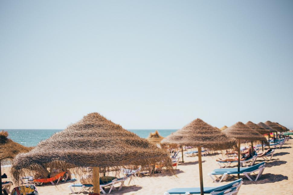 Download Free Stock Photo of Dry grass beach shades