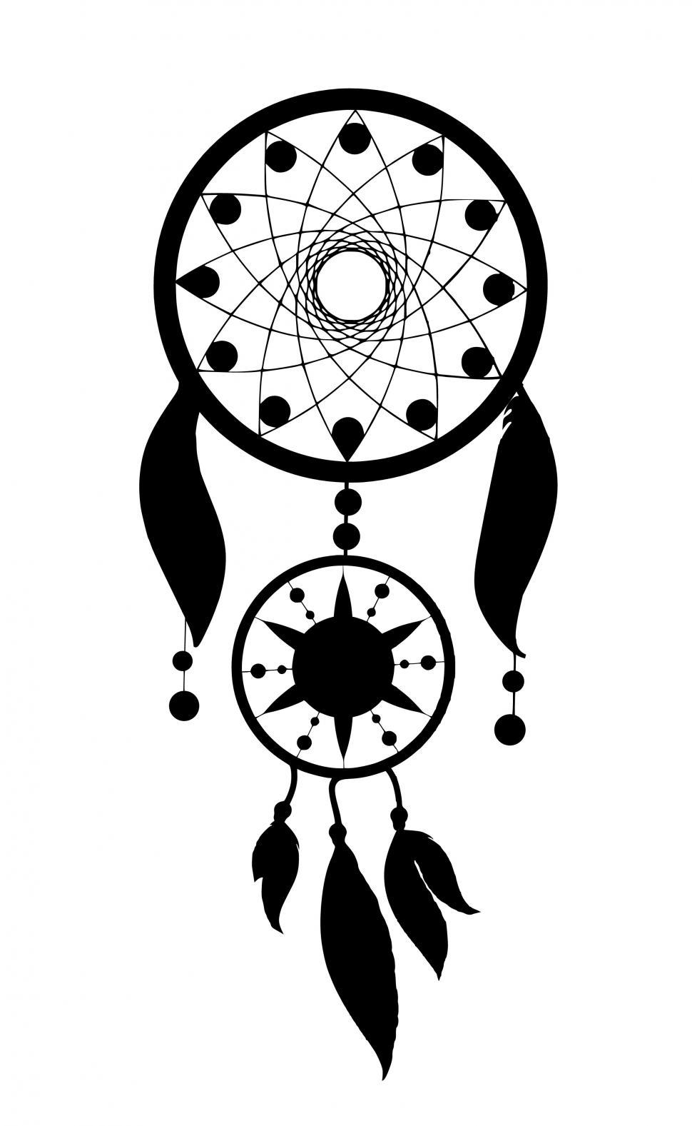 Download Free Stock Photo of dream catcher Silhouette
